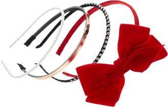 Girls 4-16 4-pk. Holiday Headband Set