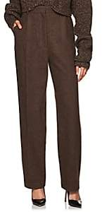 The Row Women's Nikah Wool-Cashmere High-Waist Trousers - Brown