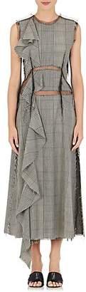 Maison Margiela Women's Deconstructed Tulle-Detailed Wool Dress - Gray