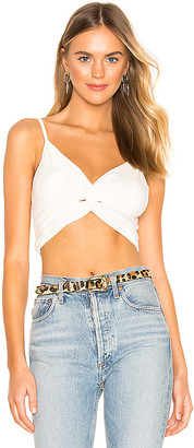 superdown x REVOLVE Jean Twist Front Crop Tank