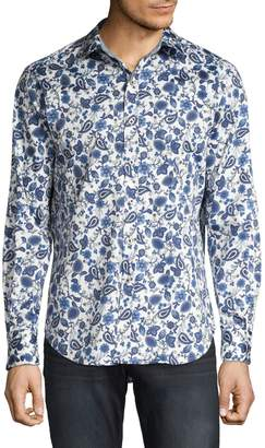 Robert Graham Long-Sleeve Floral Print Button-Front Shirt