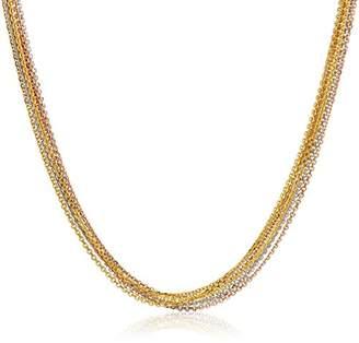 14k Tri Color Gold Multi-Chain Necklace