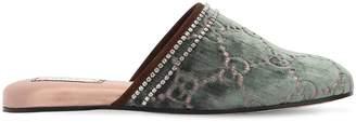Gucci 10mm Rogue Gg Swarovski Velvet Mules