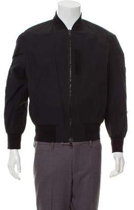 Neil Barrett Rib Trimmed Bomber Jacket