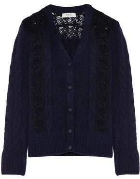 Sea Lace -Paneled Knitted Cardigan