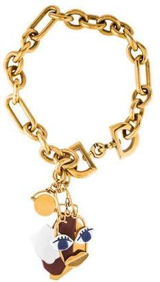 Celine Abstract Face Collar Necklace