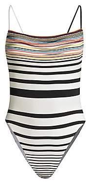 Missoni Mare Women's Pizzo Rigato Striped One-Piece Swimsuit