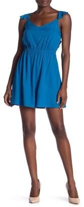 BB Dakota Annalise V-Neck Ruffled Dress