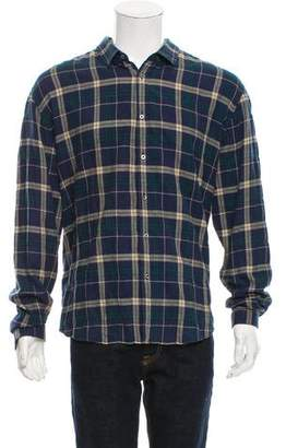 Gucci 2016 Check Pattern Duke Shirt