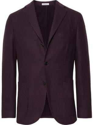 Boglioli Merlot K-Jacket Slim-Fit Garment-Dyed Felted Wool Blazer