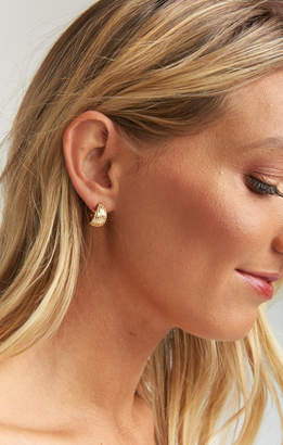 Show Me Your Mumu Mackenzie Huggie Earrings ~ Gold