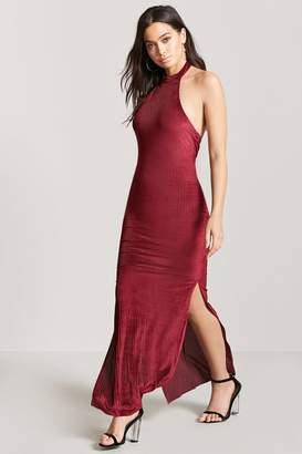Forever 21 Velvet Halter Maxi Dress