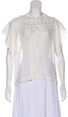 Isabel Marant Embroidered Semi-Sheer Top