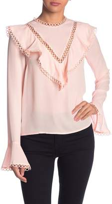 Endless Rose Circle Cutout Blouse
