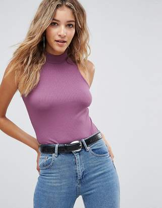 Asos Design Body with Turtle Neck in Fancy Rib