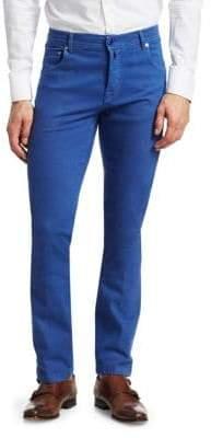 Kiton Bright Blue Basic Slim Jeans