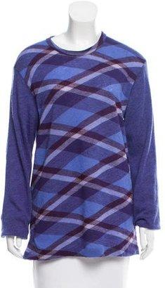 Yohji Yamamoto Patterned Wool Sweater $80 thestylecure.com