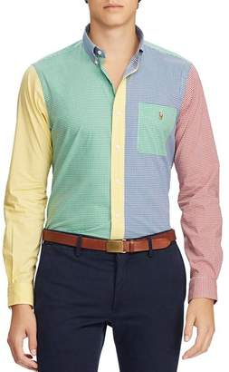 Polo Ralph Lauren Color-Block Gingham Classic Fit Button-Down Shirt