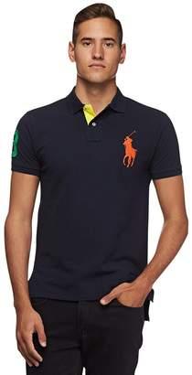 f76441e461b1 Polo Ralph Lauren Men's Big Pony Mesh Custom Fit Polo Shirt (, Aviator Navy)
