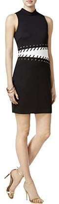 GUESS Women's Grommet and Whip Stitch Detail Dress