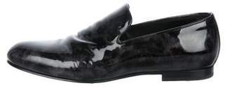 Jimmy Choo Patent Leather Round-Toe Loafers