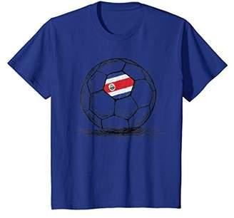 Costa Rica Rican Tico Flag Design On Soccer Ball T-Shirt