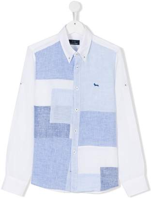 Harmont & Blaine Junior TEEN patchwork-effect shirt
