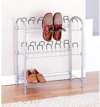 Neu Home 12 Pair Shoe Rack w/ Bottom Shelf