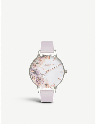 Olivia Burton OB16PP32 Watercolour Florals floral-print stainless steel watch