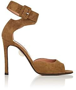 Samuele Failli Women's Jerry Suede Ankle-Wrap Sandals-Md. Green Size 5