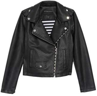 Bernardo Faux Leather Moto Jacket