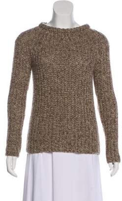 Brunello Cucinelli Suede-Accented Wool Sweater