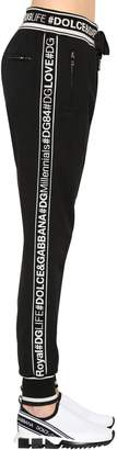 Dolce & Gabbana Logo Bands Cotton Jersey Sweatpants