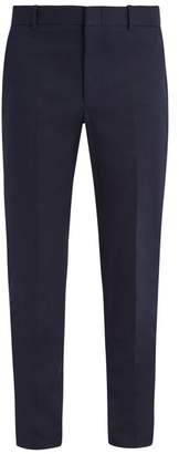 Gucci - Slim Leg Cotton Blend Chino Trousers - Mens - Navy