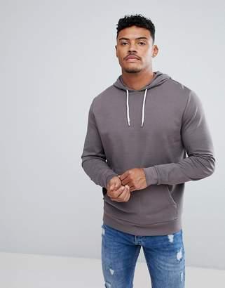 Asos Hoodie In Gray