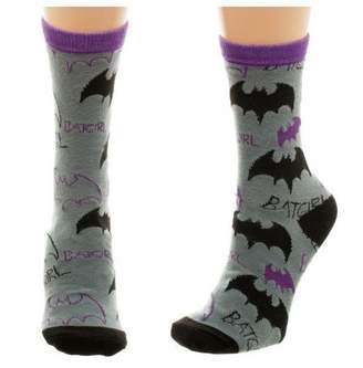 Bioworld DC COMICS Batgirl Logo Tossed Juniors Crew Socks