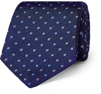 Turnbull & Asser 8cm Embroidered Silk Tie