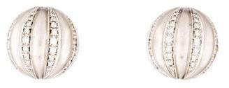 18K Diamond Dome Earring