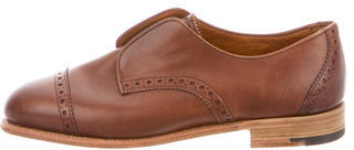 Mulberry Leather Round-Toe Oxfords $95 thestylecure.com