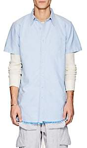 NSF Men's Cotton Oxford Elongated Shirt-Lt. Blue Size S
