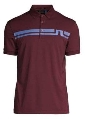 J. Lindeberg Golf Eddy Slim-Fit Logo Polo