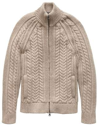 Banana Republic Cashmere Cable-Knit Sweater Jacket