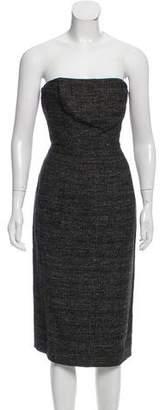 Philosophy di Alberta Ferretti Strapless Tweed Dress w/ Tags
