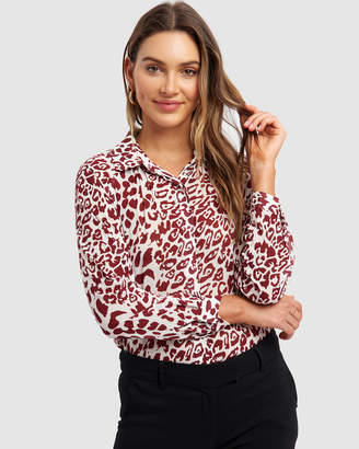 Forcast Tamina Button Up Blouse