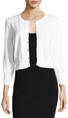 Karl Lagerfeld Paris Lace-Back Cropped Sweater