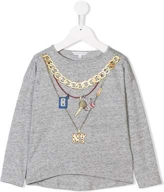 Little Marc Jacobs necklace print T-shirt