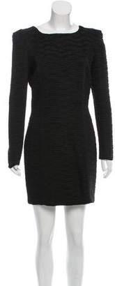 Torn By Ronny Kobo Long Sleeve Textured Dress