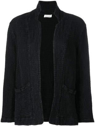 Masscob waffled open front jacket