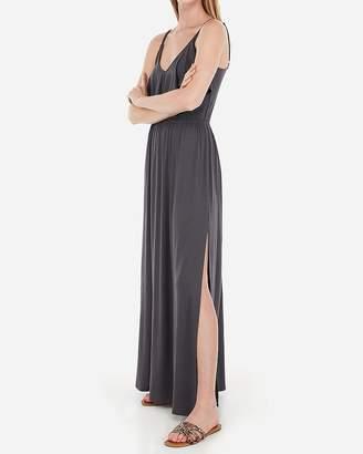 Express Ruffle Front Stretch Maxi Dress