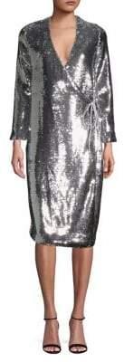 Ganni Sequin Embellished Shift Dress